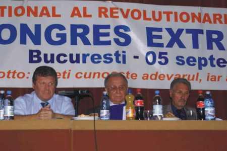 Dorin Lazăr Maior, alături de Ion Iliescu şi Emil Constantinescu, în prezidiul Congresului BNR din septembrie 2008