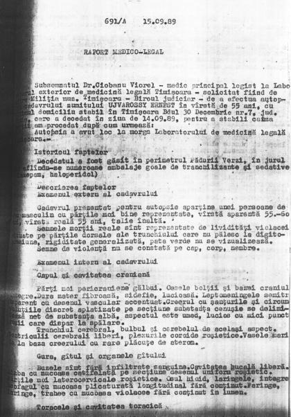 raport medico-legal despre moartea lui Erno Ujvarossy