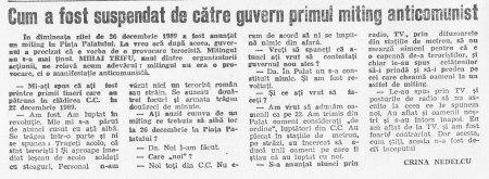 "articol de Crina Nedelcu în ""Zig-Zag"" nr. 13/1990"
