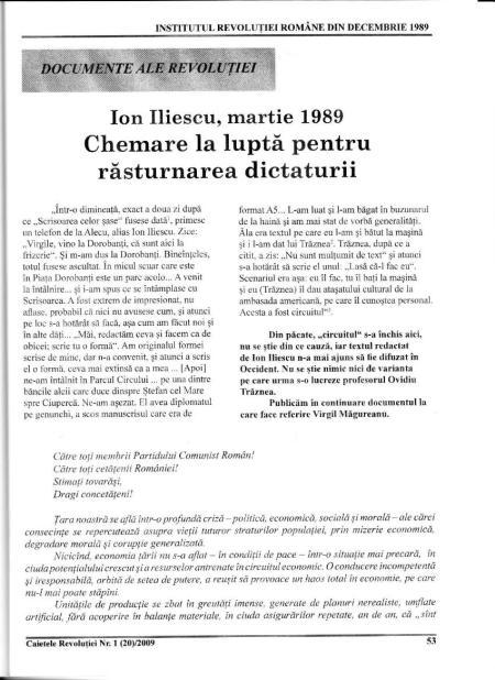"""Neruşinare IRR-istă: Literatura de sertar a lui Ion Iliescu proclamată """"document al revoluţiei"""""""