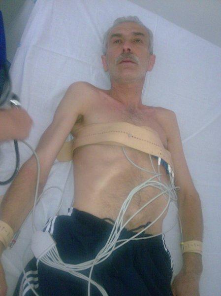 """Teodor Mărieş, după 51 de zile de grevă a foamei. Sursă foto - saitul asociaţiei """"21 Decembrie"""""""