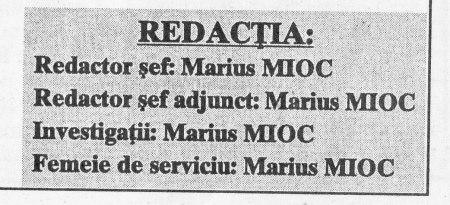 """Colectivul de redacţie al ziarului-ediţie specială """"Revoluţia din Timişoara şi minciunile lui Marius Tucă"""""""