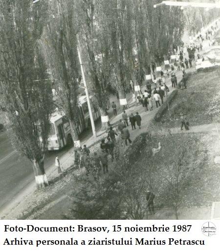 Marea manifestaţie anticomunistă de la Braşov, din 15 noiembrie 1987