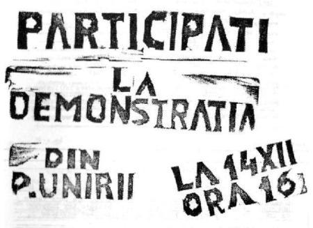 Cum ar fi arătat manifestul care chema ieşenii la demonstraţie, conform celor publicate de Casian Spiridon
