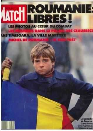 Florin Vieru, supranumit Gavroche al României, apărut pe coperta Paris Match la revoluţie, cînd avea 14 ani.