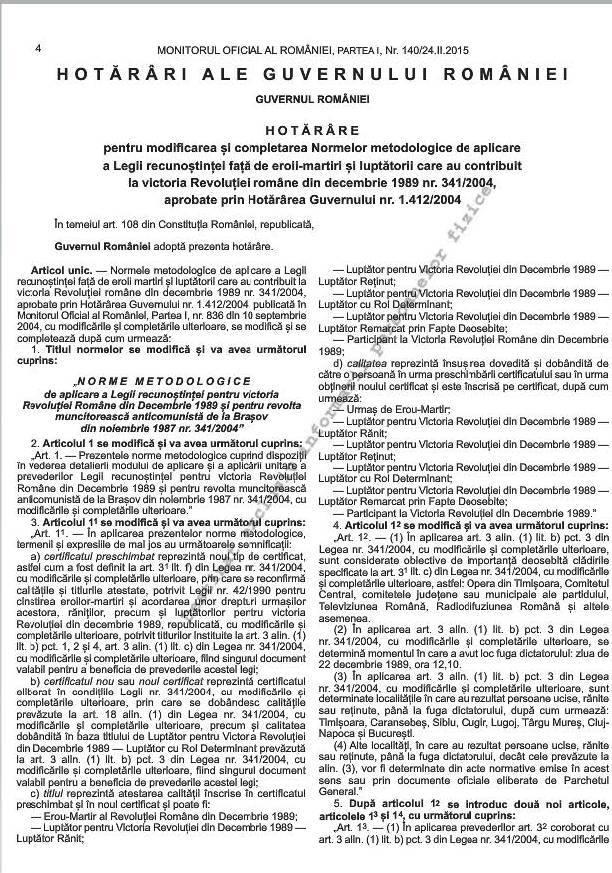 Noile norme metodologice de aplicare a Legii 341/2004 (1/6)