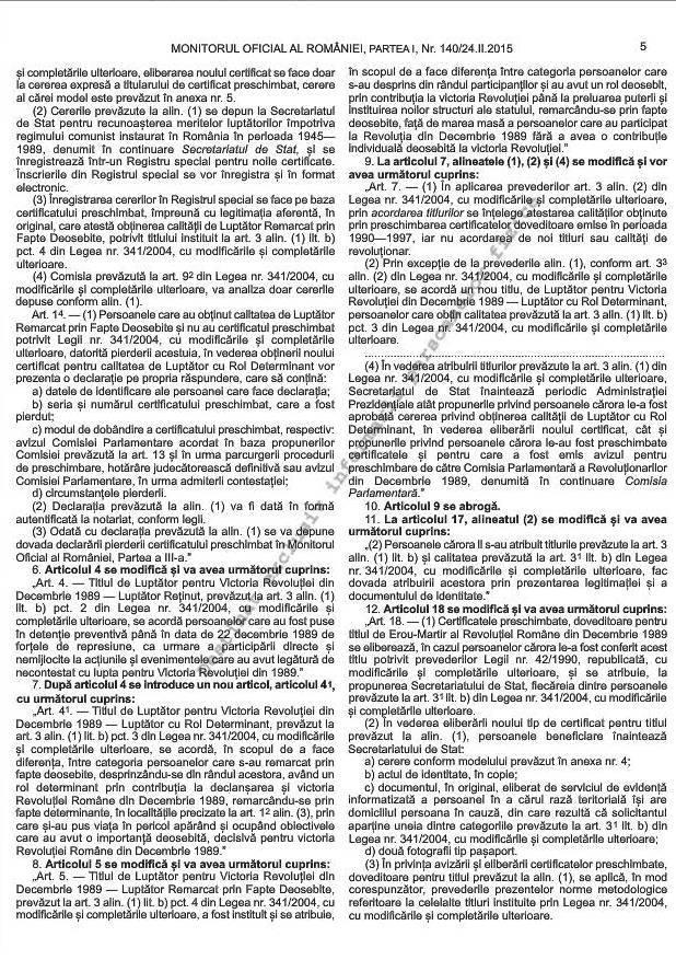 Noile norme metodologice de aplicare a Legii 341/2004 (2/6)