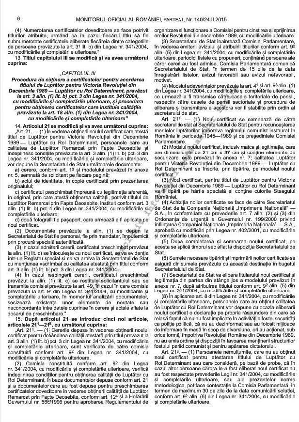 Noile norme metodologice de aplicare a Legii 341/2004 (3/6)