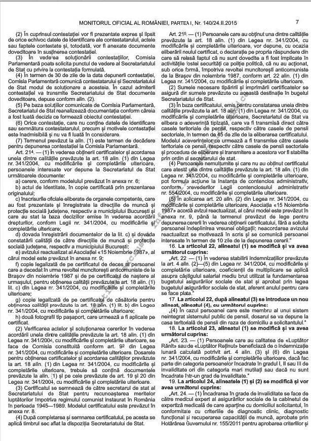 Noile norme metodologice de aplicare a Legii 341/2004 (4/6)