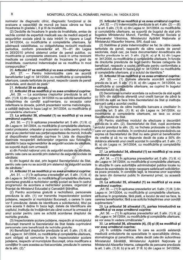 Noile norme metodologice de aplicare a Legii 341/2004 (5/6)