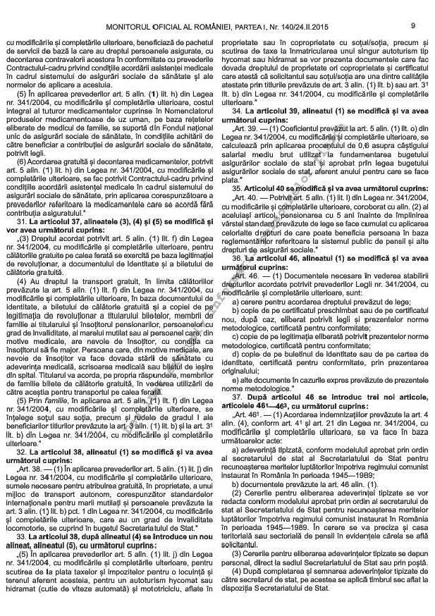 Noile norme metodologice de aplicare a Legii 341/2004 (6/6)
