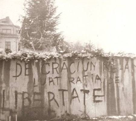 Grafiti apărut la București în decembrie 1989